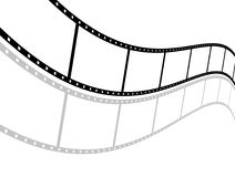 Filmstrip. The picture shows an empty  curved filmstrip on white background Stock Image