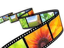 Filmstrip. Background - 3d abstract photographic film Stock Photos