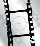 Filmstrip. Illustration of a grunge filmstrip Stock Image