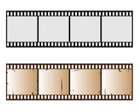 Filmstrip. Illustration of two filmstrip isolated on white background.One in old version.EPS file available Stock Image