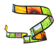 Filmstrip. Background - 3d abstract photographic film Stock Image