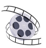 Filmstrip. 3d abstract filmstrip. Object isolated over white Royalty Free Stock Photo