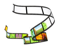Filmstrip. Background - 3d abstract photographic film Stock Photo
