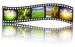 Filmstrip. On the white backgrounds stock images