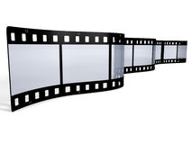 3D filmstrip on white background. 3D Filmstrip isolated on white background Stock Photo