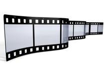 3D filmstrip on white background stock photo