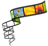 Filmstrip. Background - 3d abstract photographic film Royalty Free Stock Photo
