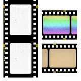 Filmstrip. Set of old filmstrip isolated on white Stock Photo