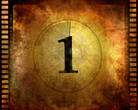 Filmstrip. Counting down to one Royalty Free Stock Images