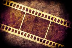 Filmstrip. Pattern on grungy background Royalty Free Stock Image