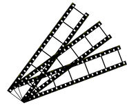Filmstrip. Isolated on white background Stock Images