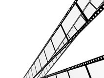 Filmstrip. 3d abstract photographic film. Object over white Royalty Free Stock Images