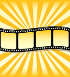 Filmstrip. Cool detail of filmstrip designed by illustration Royalty Free Stock Photo