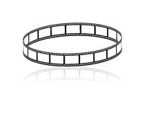 Filmstrip. Cinema Filmstrips in white background Stock Photo