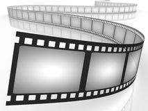 Filmstrip. Movie. Concept of Industry cinematographic Royalty Free Stock Photos