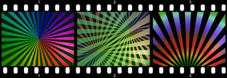 Filmstrip - abstract rainbows Stock Photos