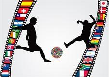 Filmstrip avec le footballeur Photographie stock libre de droits