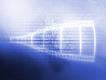 Filmstrip background. In the blue Royalty Free Stock Photo