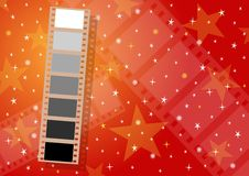 Filmstrip background - cdr format. Anniversary background with filmstrip theme with frames from white to black Stock Photography
