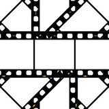 Filmstrip background frame. Illustration of background filmstrip frame scattered randomly Royalty Free Stock Photos