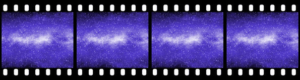 Filmstrip Background. Suitable for Custom Text and Images Royalty Free Stock Photography