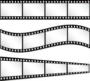 Filmstrip backgrounds. Various different shaped filmstrip backgrounds Royalty Free Stock Images