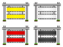 Filmstrip banner. Four different color filmstrip banners Royalty Free Stock Image