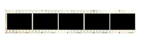 Filmstrip blanco y negro de la vendimia aislado fotografía de archivo libre de regalías
