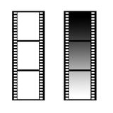 Filmstrip. A blank filmstrip framework browsing slide space Royalty Free Stock Images