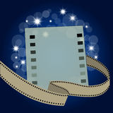 Filmstrip with blank page. And film reel Stock Image