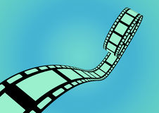 Filmstrip blue Royalty Free Stock Image