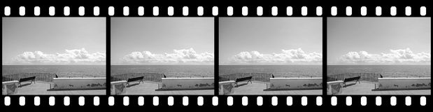 Filmstrip - Cloudy Sky. Background with Blank Copy Space for Custom Content Royalty Free Stock Image