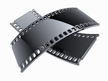 Filmstrip concept isolated. Two filmstrip isolated on white Stock Photo