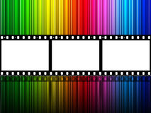Filmstrip Copyspace Indicates Colour Splash And Color. Spectrum Filmstrip Meaning Text Space And Celluloid Royalty Free Stock Image