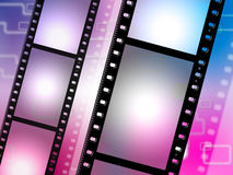 Filmstrip Copyspace Represents Photo Negative And Photographic. Copyspace Filmstrip Showing Film-Roll Negative And Background Stock Images