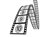 Filmstrip countdown Royalty Free Stock Photo