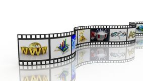 Filmstrip, 3D Obrazy Stock