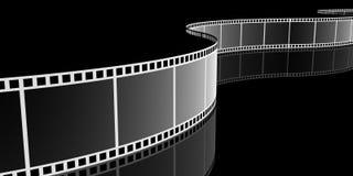 Filmstrip, 3D. Filmstrip on blackbackground 3d images Royalty Free Stock Images
