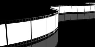Filmstrip, 3D. Images on black background Stock Photography