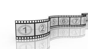 Filmstrip, 3D. On white background Stock Photo