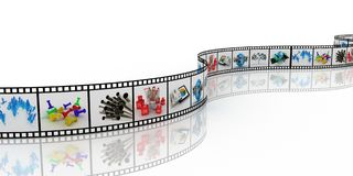 Filmstrip, 3D Stock Image