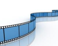 Filmstrip, 3D. Filmstrip on white background, 3D Royalty Free Stock Photo