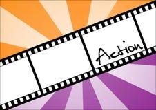 Filmstrip da ação Imagem de Stock