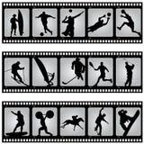 Filmstrip del deporte ilustración del vector