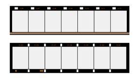 filmstrip del formato de 16m m, marcos, Foto de archivo libre de regalías