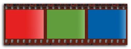 Filmstrip del RGB Fotos de archivo libres de regalías