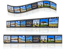 Filmstrip in a different perspective. Stock Photo