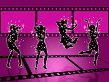Filmstrip Disco Means Discotheque Photography And Photographic Stock Photography