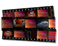 Filmstrip et Internet Photographie stock libre de droits