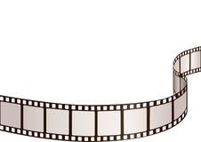 Filmstrip frame. Line curved horisontal Royalty Free Stock Image